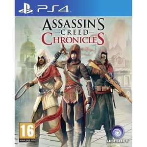 Assassin's Creed Chronicles (3 Jeux) sur Xbox One à 22.73€ et PS4