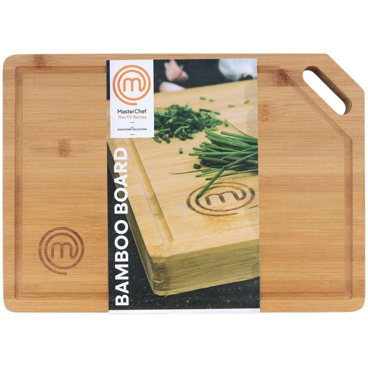 Planche de découpe en bambou MasterChef - 38,5 x 27,5 x 3 cm