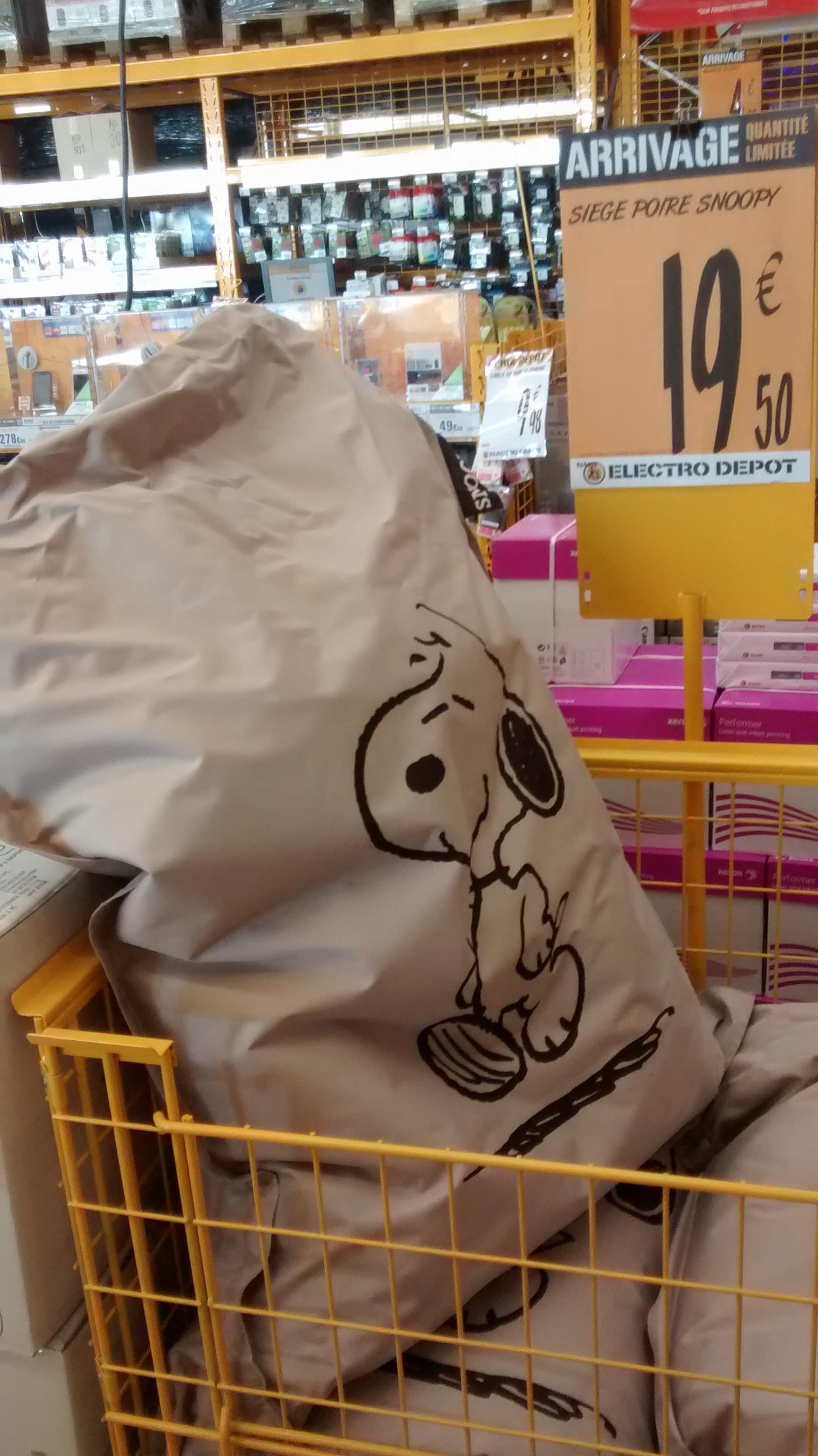 Siège poire Snoopy (100 x 130 cm)