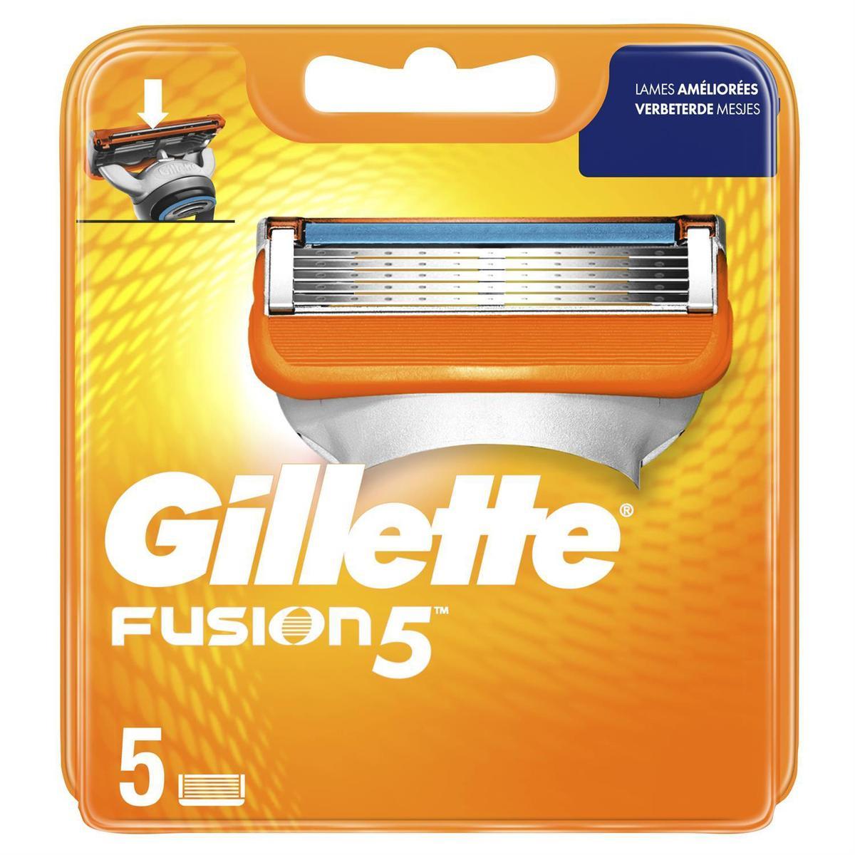 Pack de 10 Lames Gillette Fusion (Via 20,13€ sur carte de fidélité)