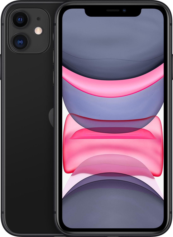 "Smartphone 6.1"" Apple iPhone 11 (HD Retina, A13, 4 Go de RAM, 64 Go, noir) - neuf"