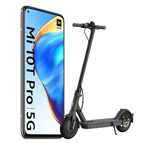 "Pack Xiaomi Mi 10T Pro (écran FHD 6,67 "", 8 Go + 128 Go, 108 MP, Snapdragon 865 5G, 5 000 mAh 33 W) + Trottinette Scooter essentiel"