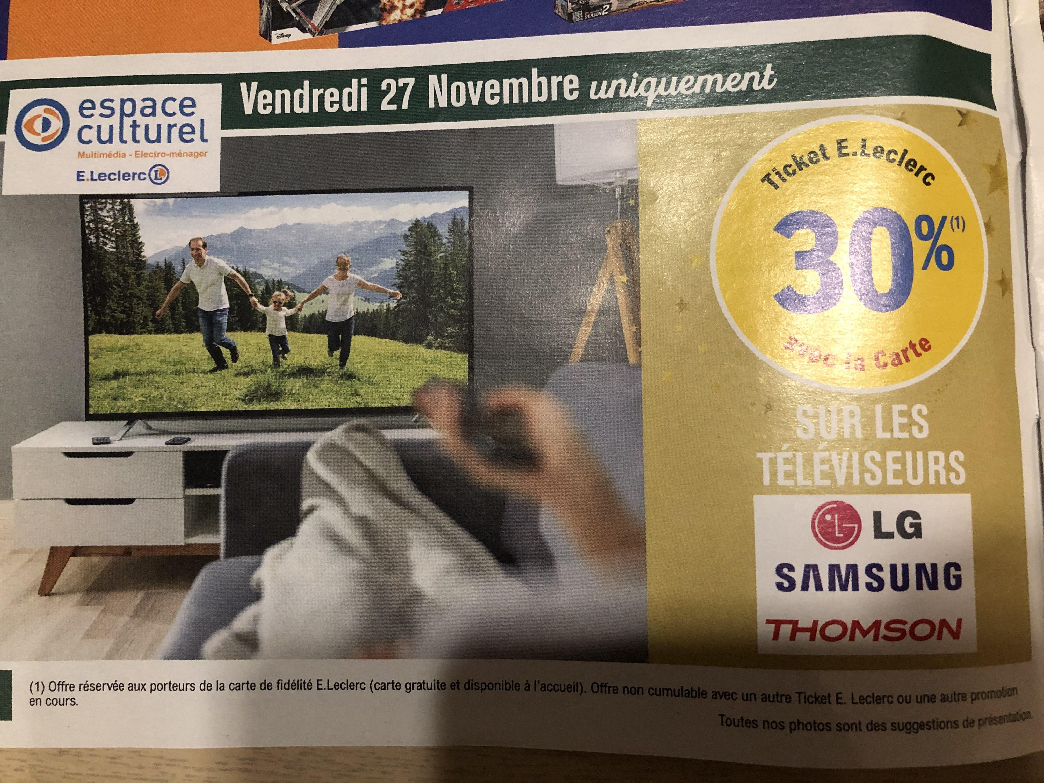 30% carte fidélité sur les TV des marques Samsung, LG & Thomson - Niort (79)
