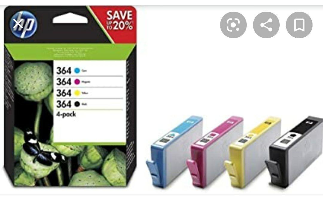Pack de 4 cartouches d'encre pour imprimante HP N364 (Via 27.29€ sur la carte fidélité)