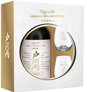 Coffret Whisky Japonais Togouchi : Bouteille (70cl) + 2 Verres