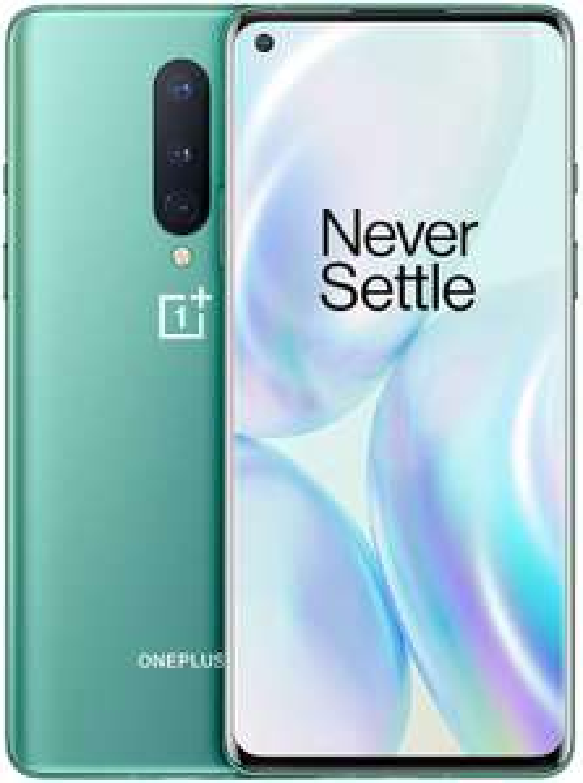 "Smartphone 6.55"" OnePlus 8 5G - 256GB, 12GB RAM, Dual Sim, Glacial Green (Vendeur tiers)"