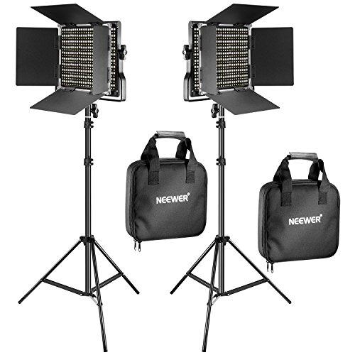Pack de 2 lumières LED dimmables pour studio photo Neewer - 2x330 LEDs, 5600K, avec sacoche et support (vendeur tiers)