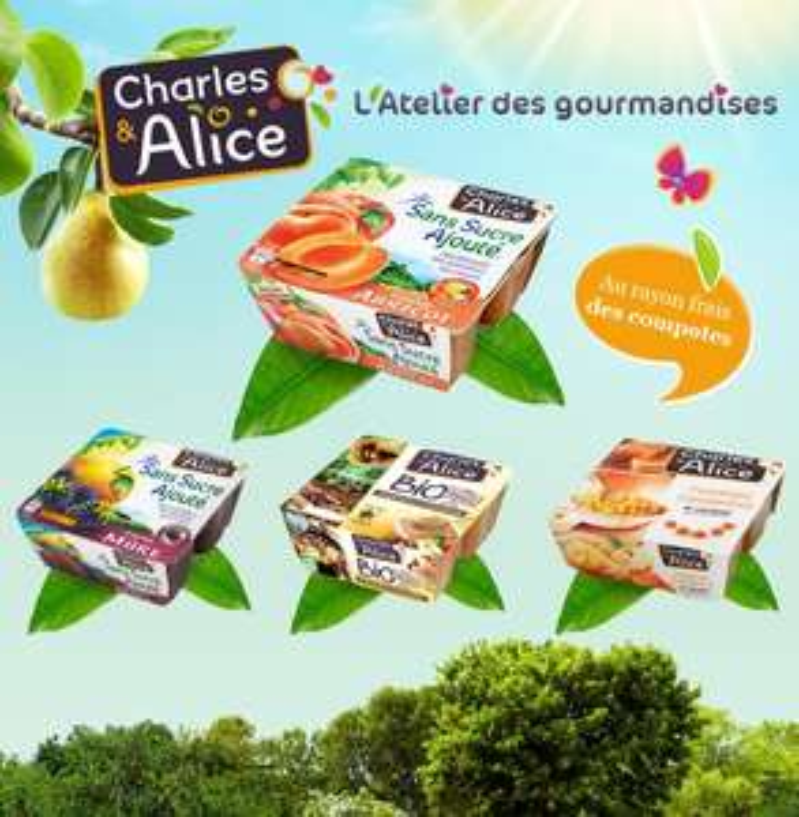 Compote Charles & Alice x4 Gratuit via Shopmium + Prixing