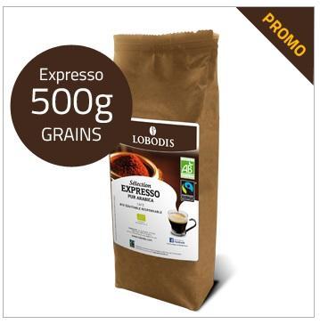 Sachet de Café en grain Lobodis Expresso - 500 grammes