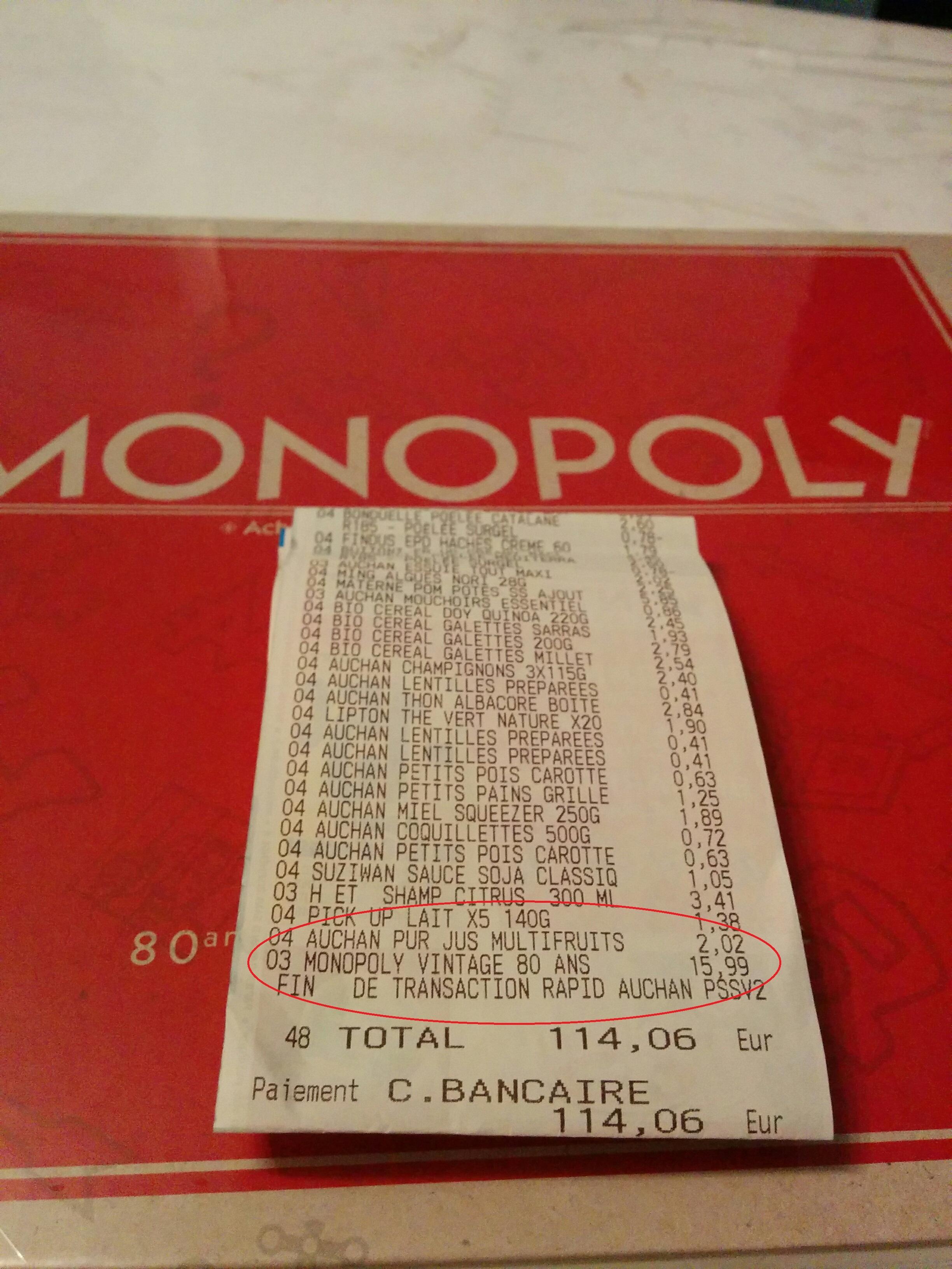 Jeu de Société Monopoly Vintage spécial 80 ans