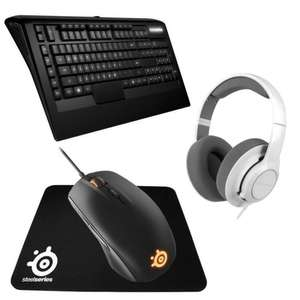 Pack Gaming Steelseries : Casque Siberia Raw + Clavier Apex Raw + Souris Rival + Tapis + Far Cry Primal