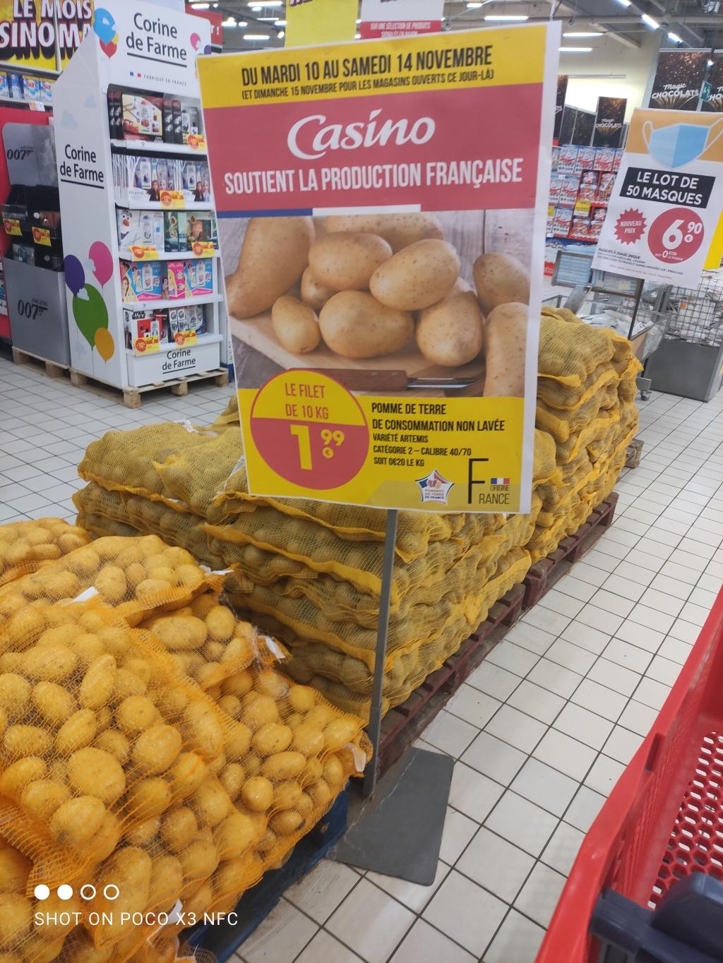 Sac de pommes de terre de consommation (10 kg) - Chasse sur Rhône (38)