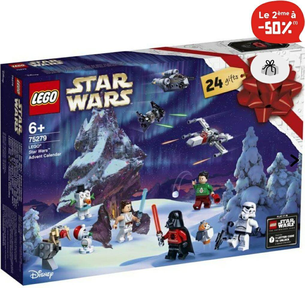 1 Calendrier de l'Avent Lego acheté parmi une sélection = 50% de réduction sur le 2ème - Ex : Lot de 2 Calendriers Lego Harry Potter 75981
