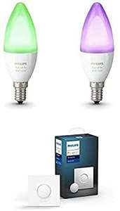 Pack de 2 Ampoules conenctées Philips Hue White and Color e14 + Smart Button