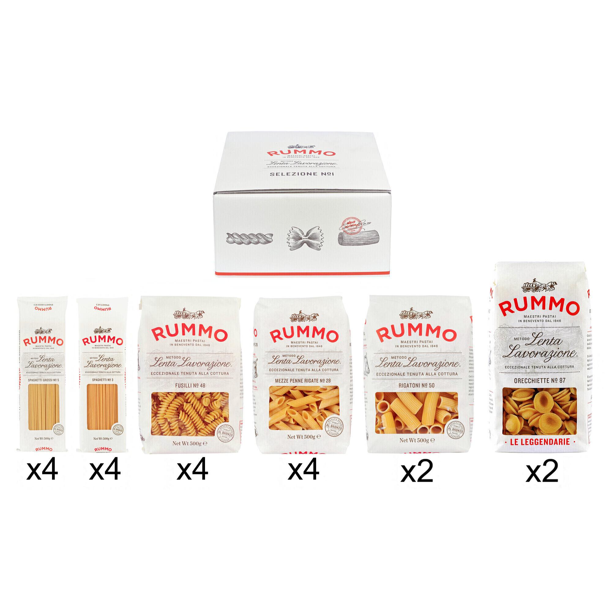 Lot de 20 paquets de pâtes Rummo - 20 x 500g