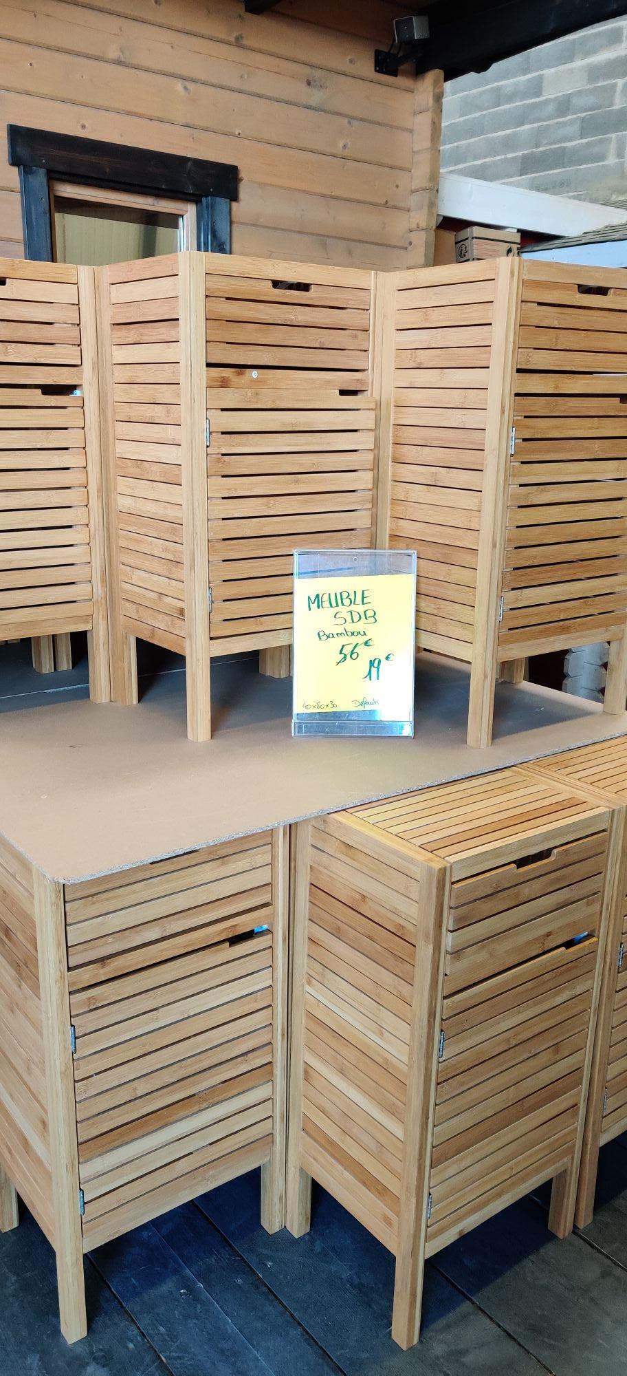 Meuble salle de bain bambou - Entrepôt Cocktail Scandinave Nîmes (30)