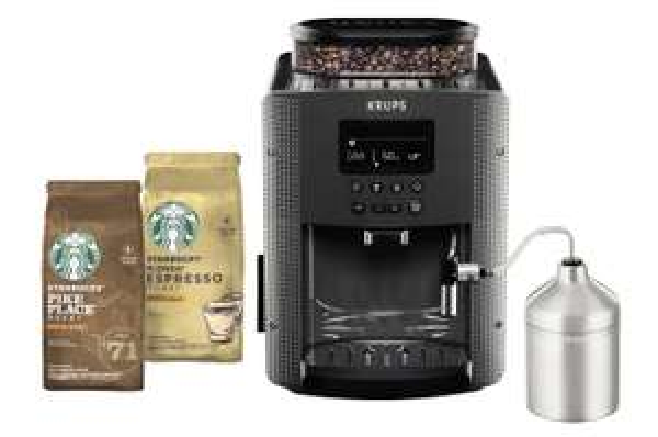 Machine à café Expresso avec broyeur Krups Essential YY4539FD + 2 paquets de Café