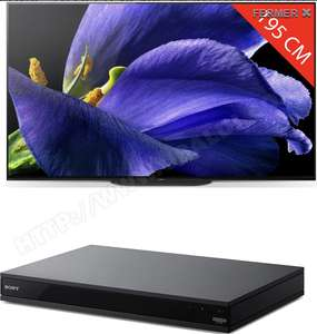 "TV OLED 77"" Sony KD77AG9BAEP - 4K UHD, Smart TV + Lecteur Blu-ray 4K UBPX800BM2"