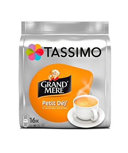 80 boissons de Café Dosettes Tassimo - Grand Mère Petit Déjeuner (lot de 5 x 16 boissons)