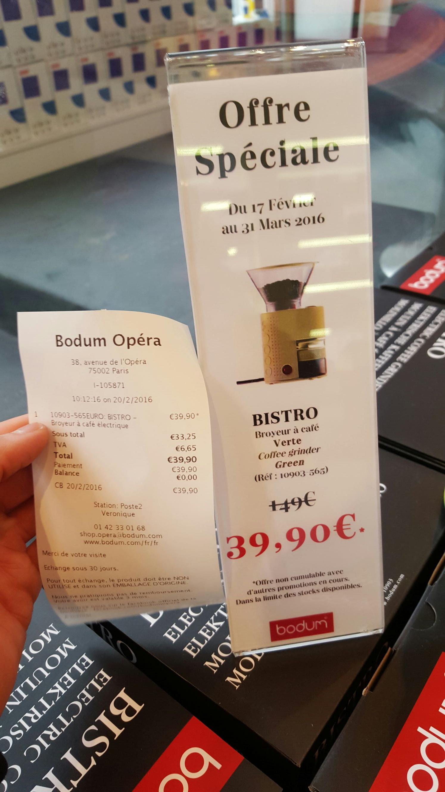 Broyeur à café Bodum Bistro - Vert