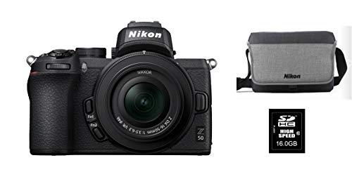 Appareil photo Nikon Hybride Z50 + Objectif Z 16-50 mm f/3.5-6.3 + Carte mémoire 16 Go + FT