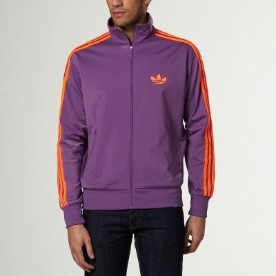 Veste zippée sport Adidas Firebird  - Violet