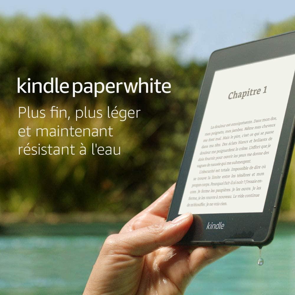 """Liseuse Kindle Paperwhite - Résistant à l'eau, Écran haute résolution 6"""", 8 Go (Reconditionné)"""