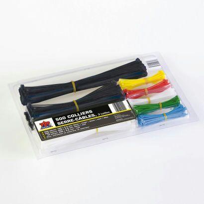 Lot de 500 liens serre-câbles Top Craft