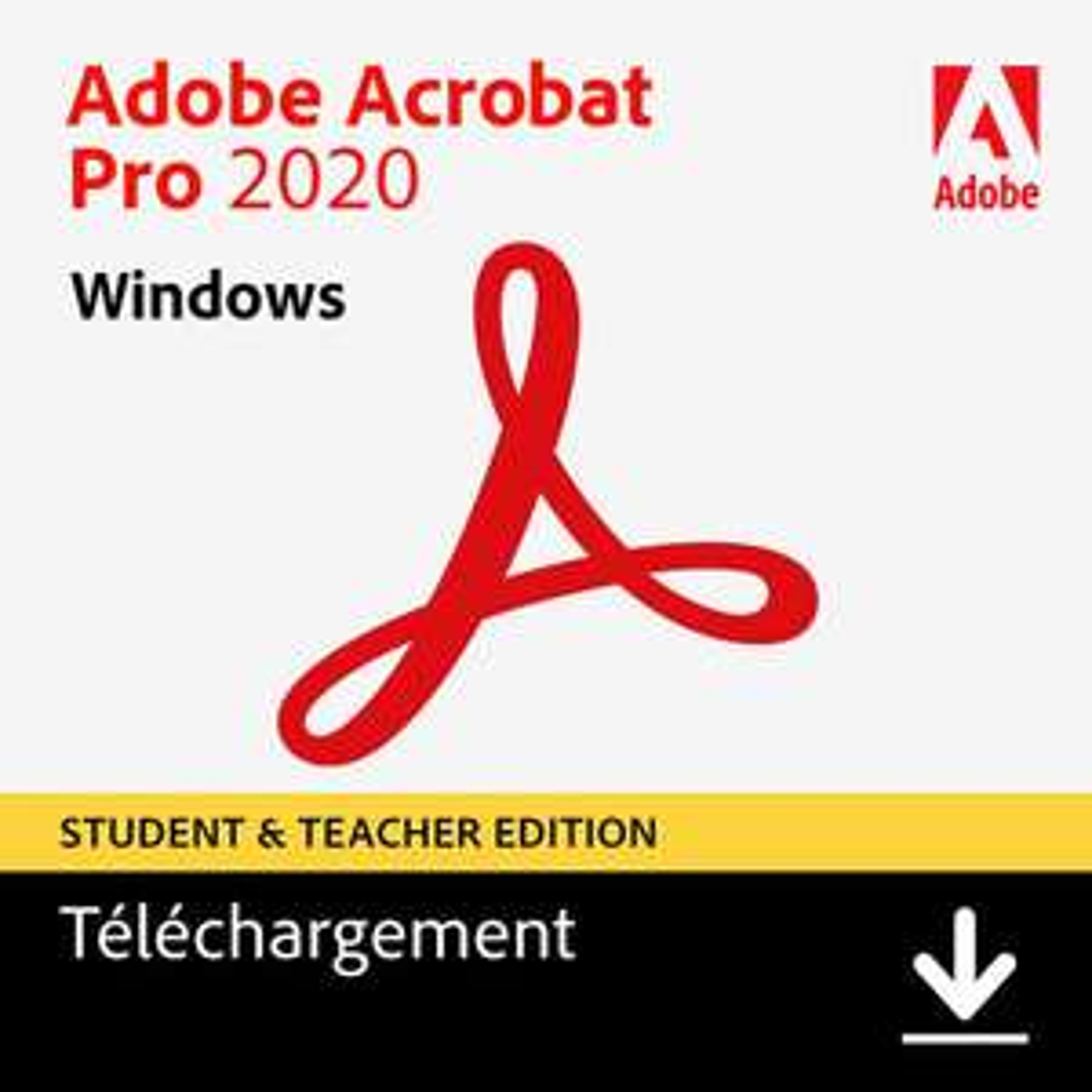 [Etudiants/Prof] Licence Adobe Acrobat Pro 2020 - Licence perpétuelle pour collégiens, lycéens, étudiants & enseignants