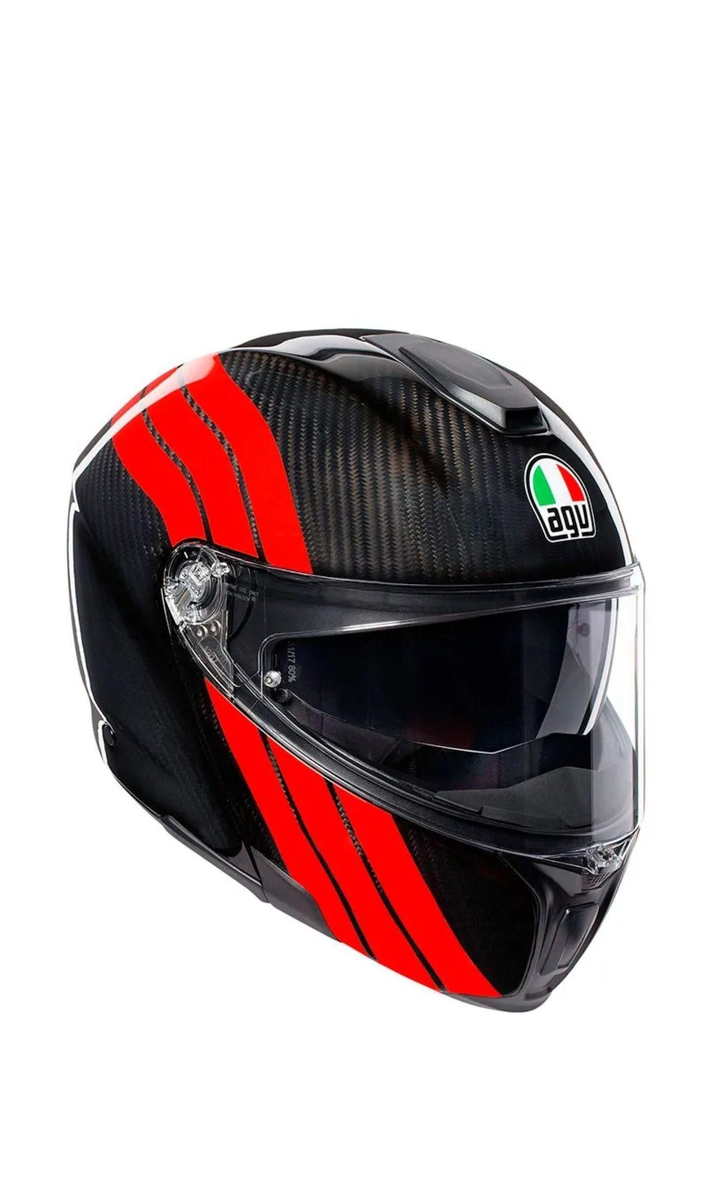 Casque moto AGV Sportmodular Multi Stripes (Taille S, M & L)