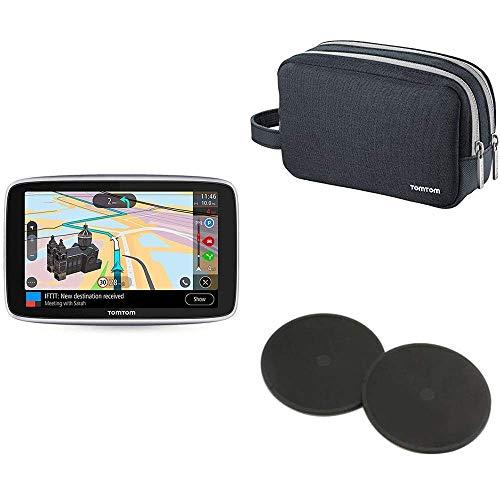 """GPS Voiture 6"""" TomTom GO Premium + housse de transport +disques de fixation Adhésifs"""