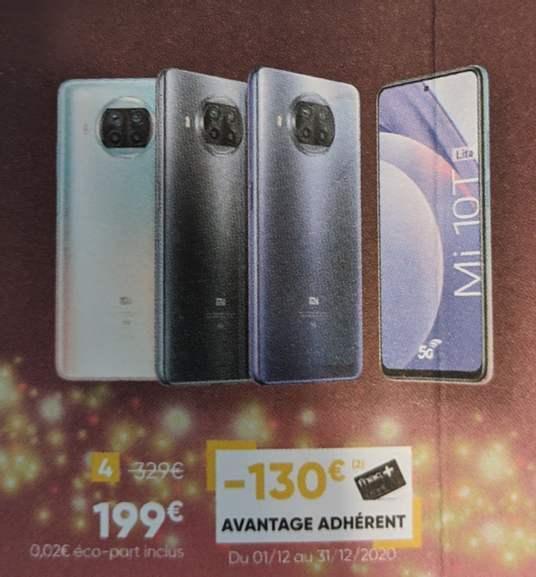 "[Adhérents] Smartphone 6,67"" Xiaomi Mi 10T Lite 5G - 128 Go"