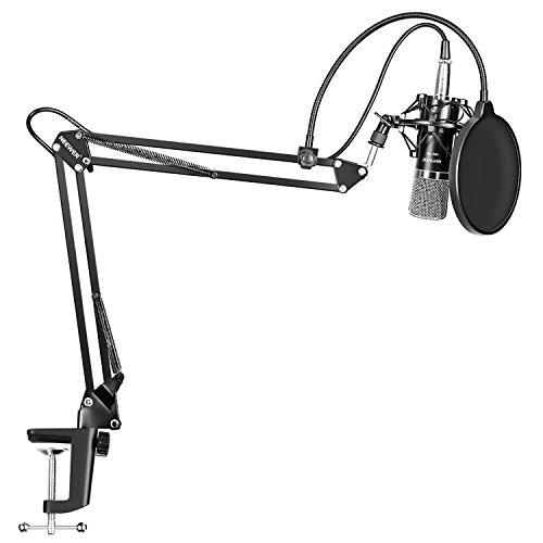 Microphone à condensateur Neewer NW-700 avec bras NW-35 + pince de fixation (vendeur tiers)
