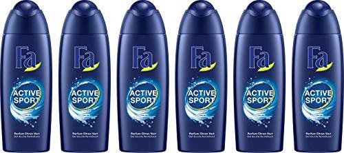 Lot de 6 Gels Douche Revitalisant Fa Men Active Sport - 6 x 250 ml