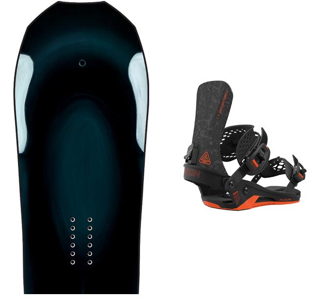 Pack Snowboard Lib Tech Orca 2021 + fixations Union atlas FC 2021