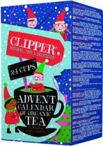 Calendrier de l'avent thé Bio Clipper (24 sachets de thés et d'infusions Bio)
