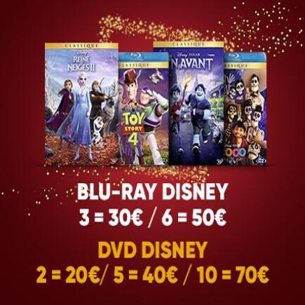 6 Blu-ray Disney = 49,98€ (près de 90 films différents) + DVD Django Unchained offert