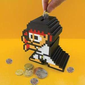 Tirelire Arcade Pixel Street Fighter Ryu