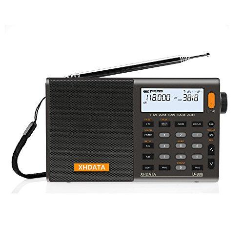 Radio numérique Portable XHdata D-808 - FM stéréo/SW/MW/LW SSB RDS (vendeur tiers)