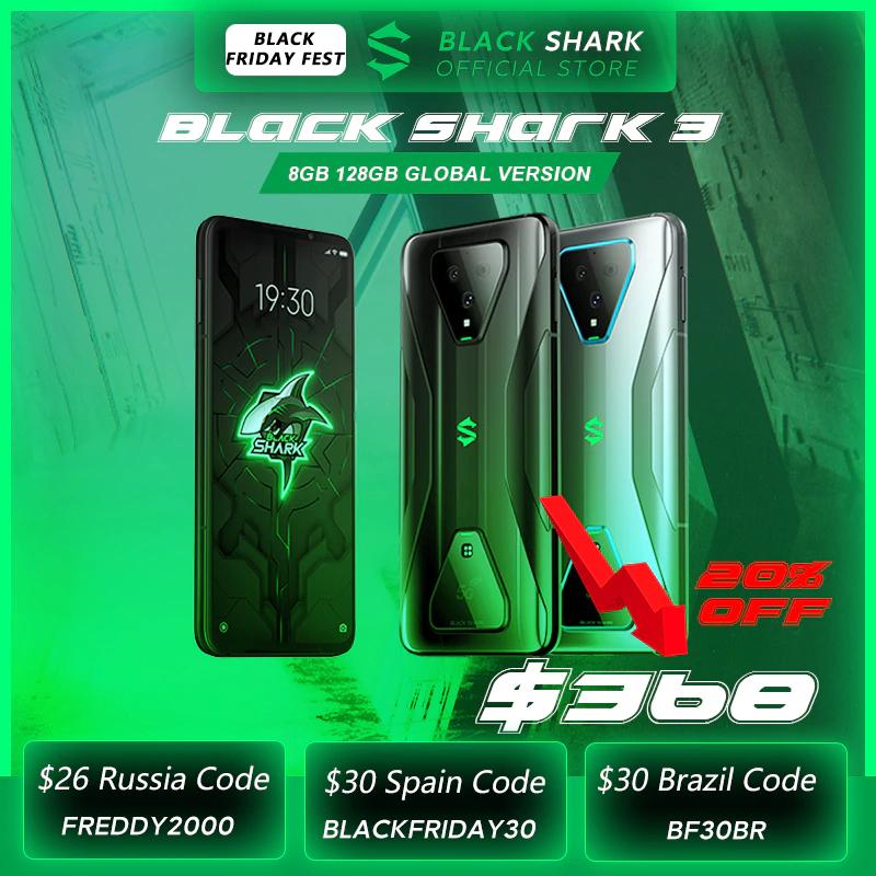"Smartphone 6.67"" Xiaomi Black Shark 3 (Version Globale) - 5G, RAM 8 Go, 128 Go (307,14€ via BFRAPIDE28 + BFRAPIDE14)"