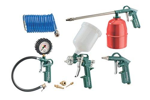 Set Metabo LPZ 7 - Gonfleur de pneu, peinture, pistolet de pulvérisation et tuyau de bobine