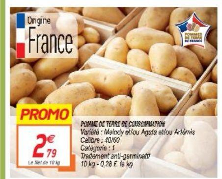 Filet de 10kg de pommes de terre Catégorie 1 (Origine France)