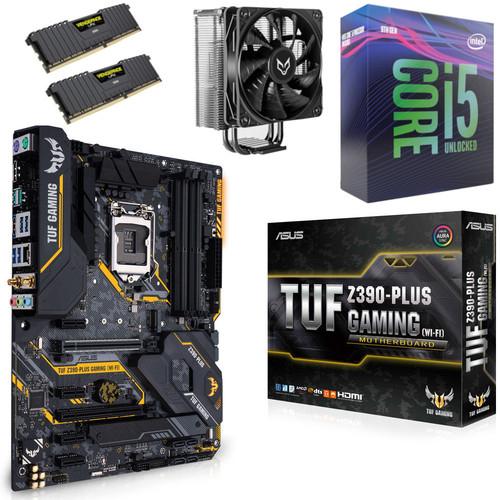 Kit Evo Processeur Intel i5-9600K + Carte Mère Z390-Plus + Ventirad Fox Spirit VT120 + 16 Go (2 x 8 Go) RAM Corsair LPX (3200 MHz, CL16)