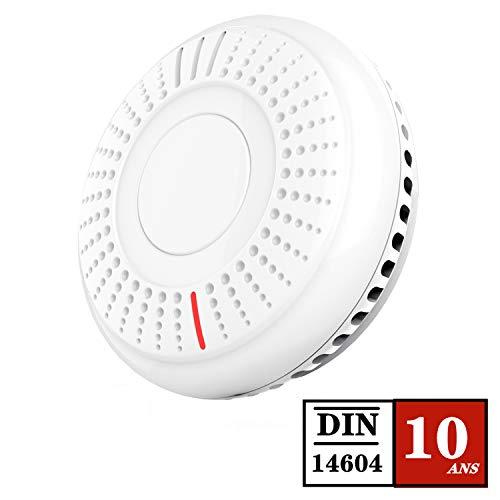 Détecteur de fumée Sakobs - Alarme Incendie, Certifié TÜV et DIN14604, Norme NF (Via coupon - Vendeur tiers)