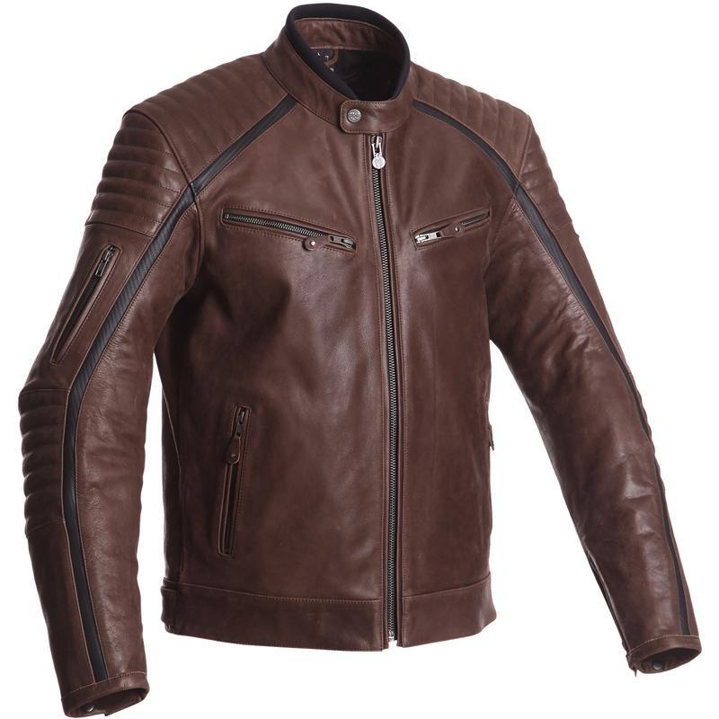 Blouson de moto en cuir Segura Horner - homologué CE, Taille: XL et 2XL