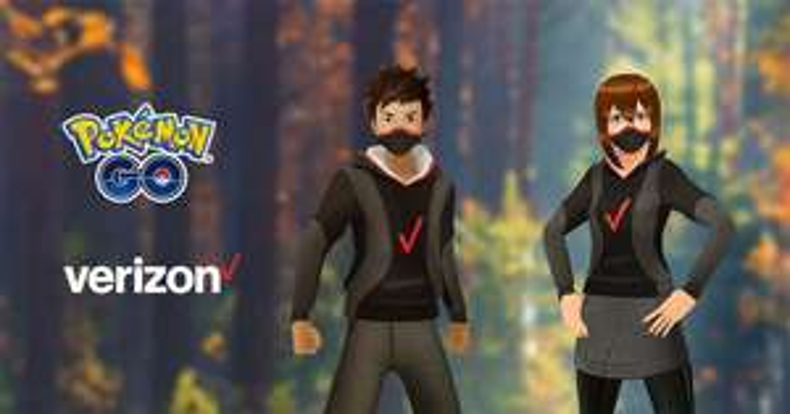 Objets d'avatar de Verizon offert sur Pokémon Go Android & iOS (dématérialisés)