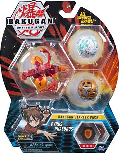 Starter Pack de 3 personnages Bakugan - Pyrus Phaedrus
