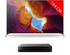 "TV 65"" Sony KD-65XH9505 - 4K UHD, 100 Hz, HDR10, Dolby Vision & Atmos + Lecteur Blu-Ray 4K UBPX700B.EC1"