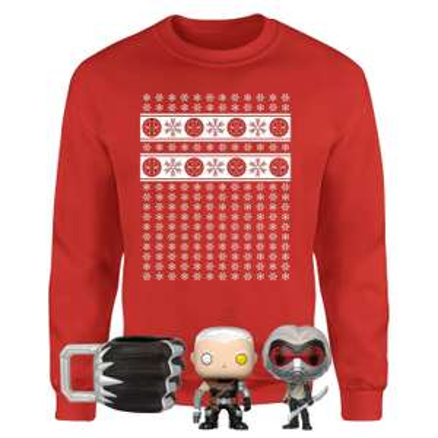 Lot Marvel spécial Noël - pull + 3 cadeaux