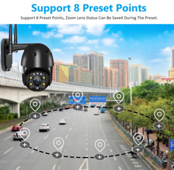 Caméra IP PTZ - 1080p, WiFi